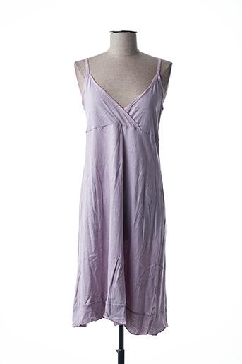 Robe mi-longue violet INGE DE JONGE pour femme