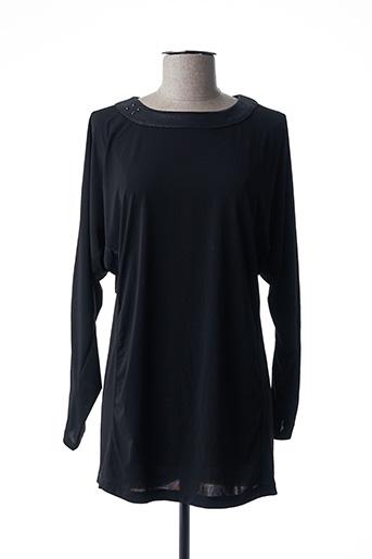Tunique manches longues noir CATY LESCA pour femme