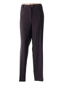 Pantalon chic marron BRANDTEX pour femme