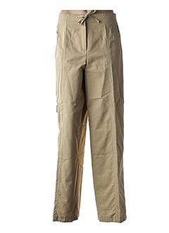 Pantalon casual beige FRANK EDEN pour femme
