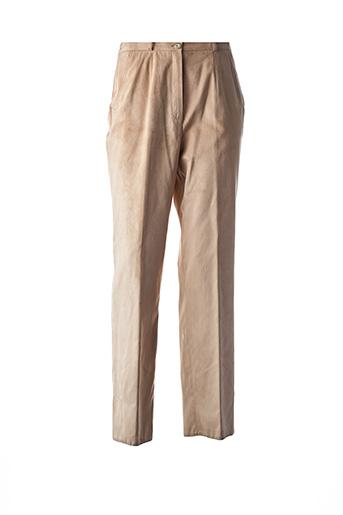 Pantalon chic beige FE EDITION pour femme