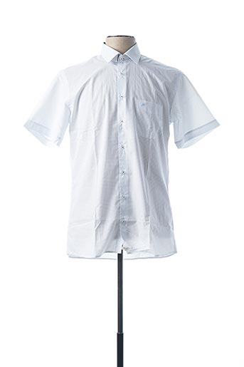 Chemise manches courtes blanc CHATEL pour homme