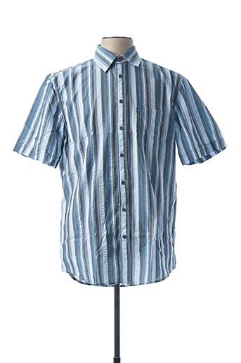 Chemise manches courtes bleu DORNBUSCH pour homme