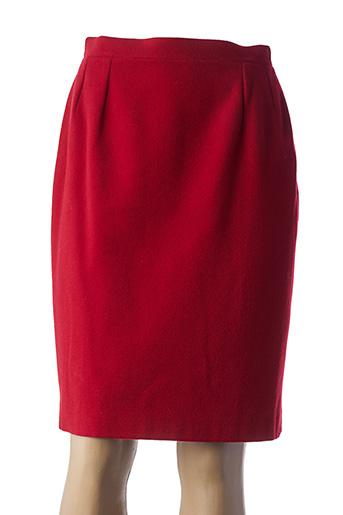 Jupe mi-longue rouge BREAL pour femme
