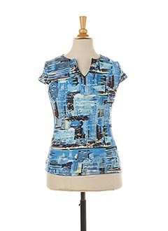 T-shirt manches courtes bleu TEDDY SMITH INDUSTRY pour fille