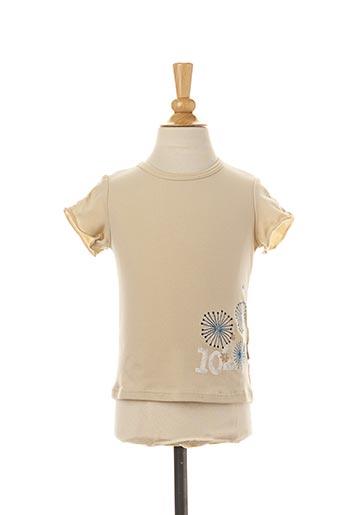 T-shirt manches courtes beige JEAN BOURGET pour fille