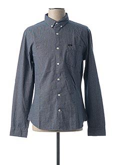 Chemise manches longues bleu LEE pour homme