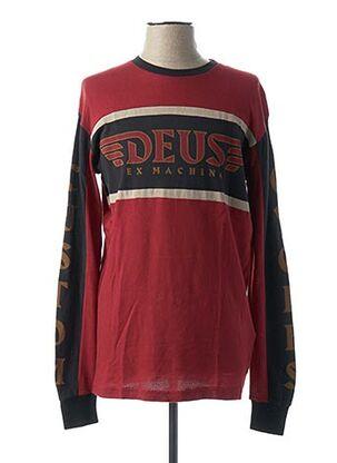 T-shirt manches longues rouge DEUS EX MACHINA pour homme