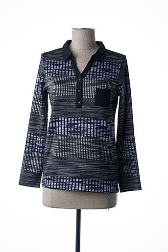Pull col chemisier bleu FELINO pour femme