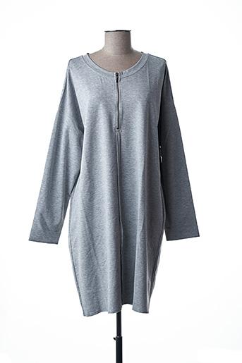 Robe mi-longue gris LE PETIT BAIGNEUR pour femme