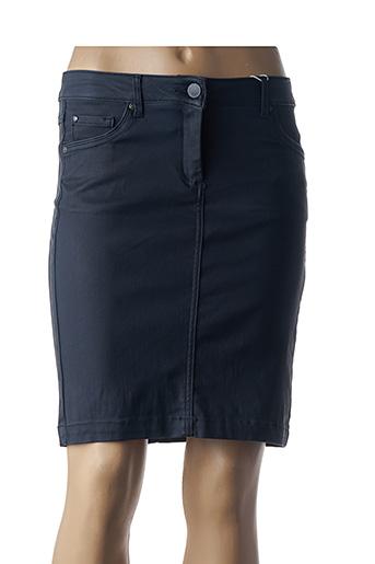 Jupe courte bleu CECIL pour femme