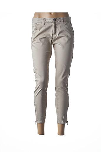 Pantalon 7/8 beige DDP pour femme
