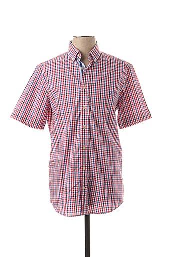 Chemise manches courtes rouge CAMBRIDGE pour homme