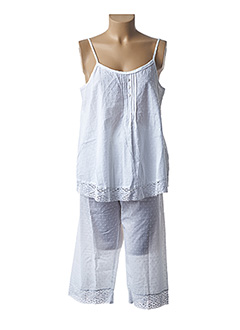Pyjashort blanc RINGELLA pour femme