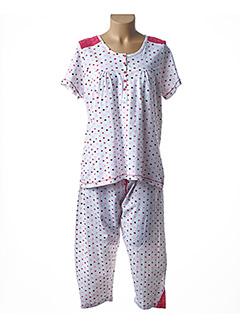 Pyjashort rouge BARANDI pour femme