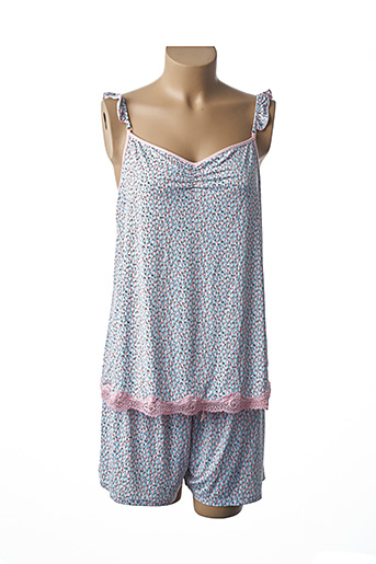 Pyjashort rose BARANDI pour femme