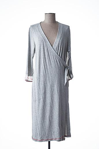 Robe de chambre gris BARANDI pour femme
