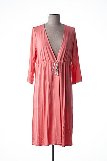 Robe de chambre orange BARANDI pour femme