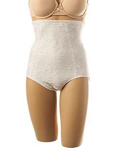 Culotte gainante blanc SECRET D'EVA pour femme