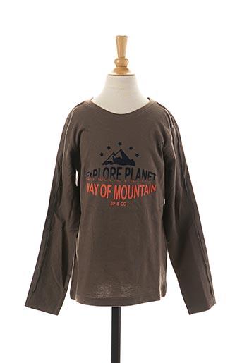 T-shirt manches longues marron 3 POMMES pour enfant