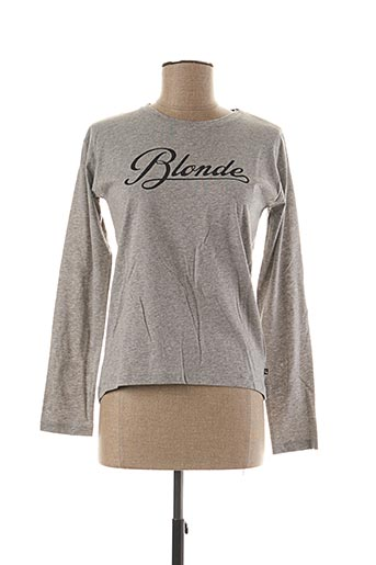 T-shirt manches longues gris LE TEMPS DES CERISES pour fille