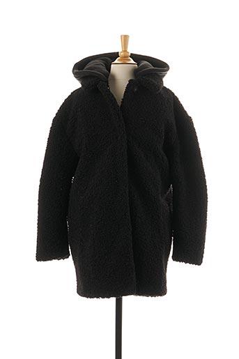 Manteau long noir LE TEMPS DES CERISES pour fille