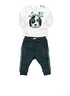 Top/pantalon vert CATIMINI pour garçon