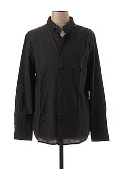 Chemise manches longues noir QUIKSILVER pour homme