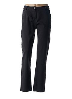Jeans coupe droite noir EVER EASY BY JAC JAC pour femme