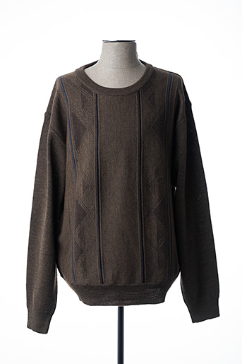 Pull col rond marron 20/20 pour homme