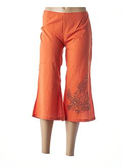 Pantacourt décontracté orange COLINE pour femme