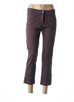 Pantalon 7/8 marron BLEU SALÉ pour femme