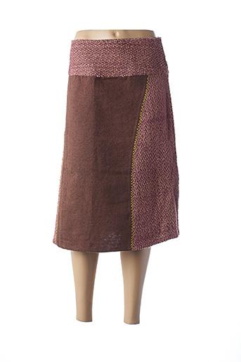Jupe mi-longue rose ISH CREATION pour femme