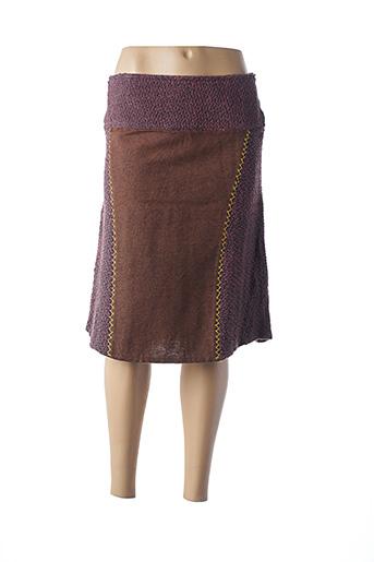 Jupe mi-longue violet ISH CREATION pour femme
