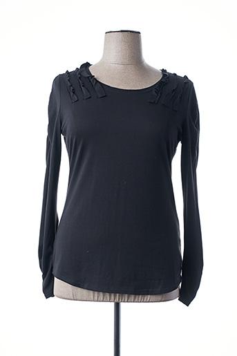 T-shirt manches longues noir AKELA KEY pour femme