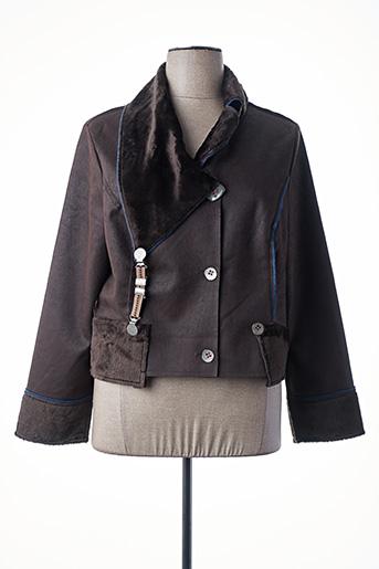 Manteau court marron ALL BEAUTIFUL pour femme
