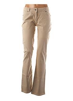 Pantalon casual beige BEST MOUNTAIN pour femme