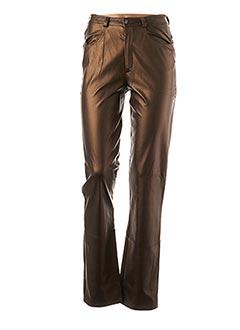 Pantalon casual marron ROSA ROSAM pour femme