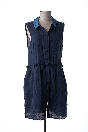 Robe mi-longue bleu TEDDY SMITH pour femme