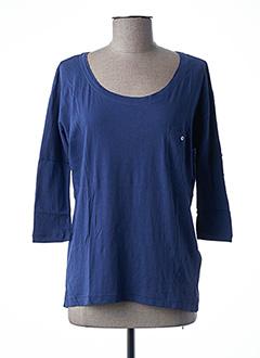 T-shirt manches longues bleu ONLY pour femme