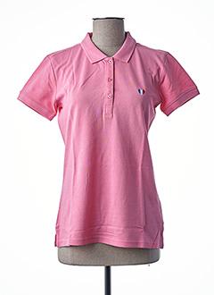 Polo manches courtes rose TEDDY SMITH pour femme