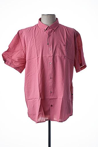 Chemise manches courtes rose LA CIBLE ROUGE pour homme