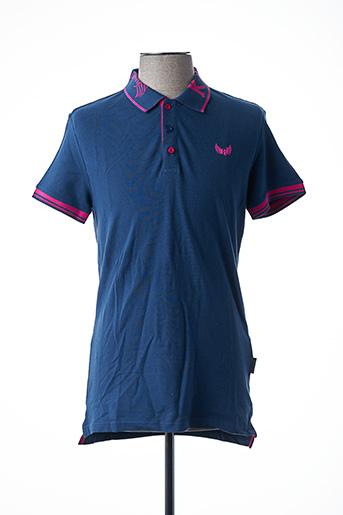 Polo manches courtes bleu KAPORAL pour homme