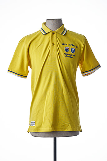 Polo manches courtes jaune RUCKFIELD pour homme