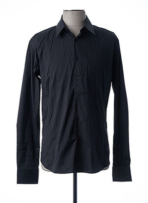 Chemise manches longues noir LA CIBLE ROUGE pour homme