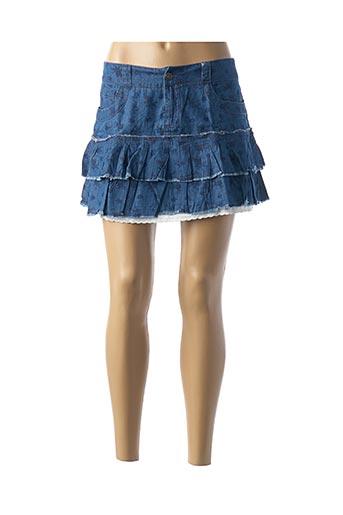 Mini-jupe bleu ONLY pour femme