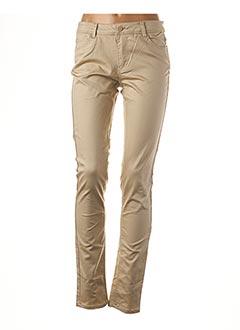 Pantalon casual beige ONLY pour femme