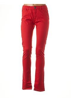 Pantalon casual rouge ONLY pour femme