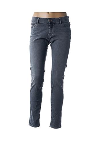 Jeans skinny gris TEDDY SMITH pour femme