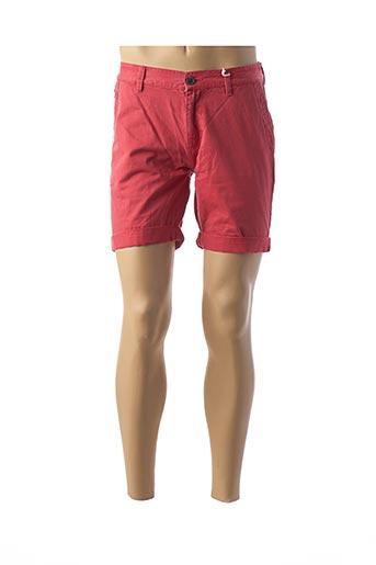 Bermuda rouge KAPORAL pour homme